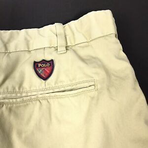 Polo-Ralph-Lauren-Mens-Golf-Shorts-Classic-Fit-Chino-Stretch-Twill-Khaki-Sz-42