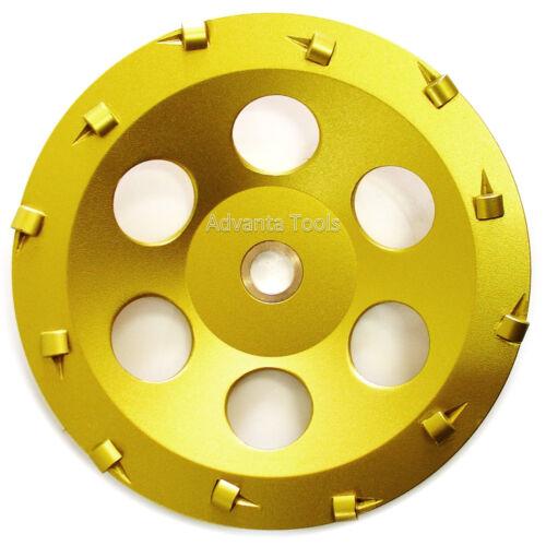 "7"" Quarter Round PCD Grinding Cup Wheel 12 Segments - 7/8-5/8 Arbor"