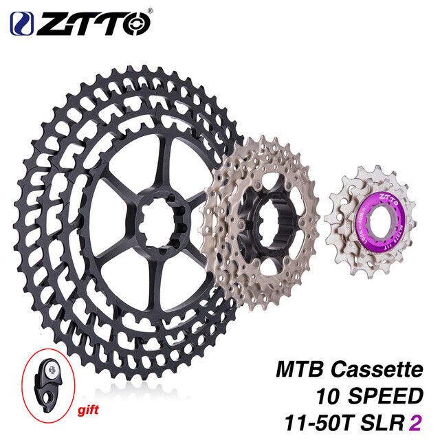 ZTTO 10 Speed Mountain Bike SLR2 Cassette 1150T Ultralight CNC Ratio Cassettes