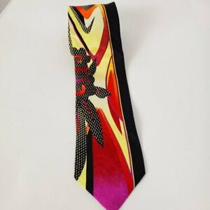 VITALIANO-PANCALDI-Men-039-s-100-Silk-Necktie-ITALY-Luxury-Black-Red-Pink-Geometric