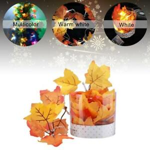 Autumn-Leaf-10-LED-Fall-Leaves-String-Light-Battery-Operated-Lamp-Garland-GA