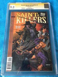Preacher-Saint-of-Killers-2-DC-CGC-SS-9-2-Signed-by-Garth-Ennis