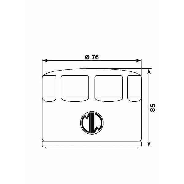 MS-D1D36112A8 FILTRO OLIO MEIWA  13/16 CAPONORD / ABS (ZD4VK/ZD4VKA) 1200 APRILI