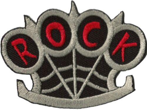 Patche écusson Poing Américain Rock thermocollable patch brodé