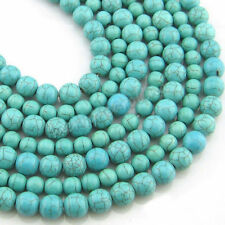 100PC 4MM Turquoise Gemstone Round Loose Spacer Beads Jewelry Making Crafts