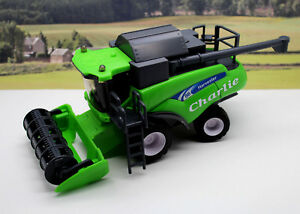 PERSONALISED-NAME-Gift-Green-Combine-Harvester-Farm-Toys-Boys-Toy-Present-Boxed