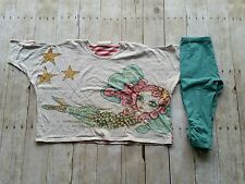 EUC Paper Wings Fairy Poncho, sz 8 & Teal Capris, sz 10 (runs small)