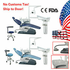 Dental Chair Unit Pu Leather Computer Controlled Dc Motor Stool Kit