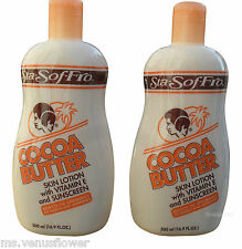 2 x Sta Sof Fro Cocoa Butter Skin Lotion with Vitamin E and SunScreen (500 ml)