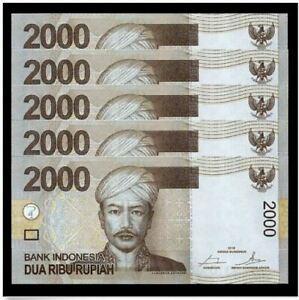 Indonesia-2000-Rupiah-Replacement-034-X-034-5pcs-Running-Number-2015-UNC