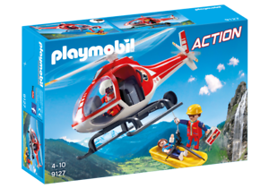 Playmobil 9127 - Mountain Rescue Helicopter - NEW