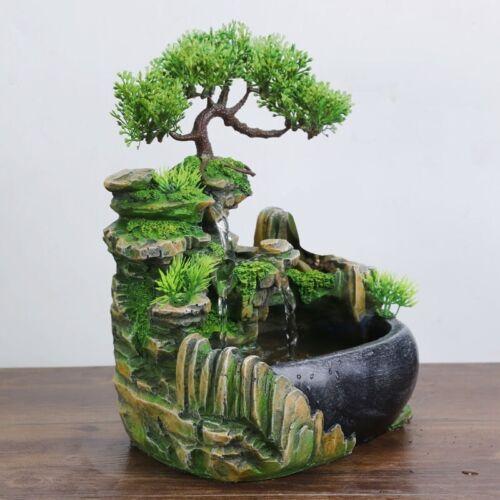 Waterfall Fountain Fake Tree Creative Indoor Simulation Resin Rockery Feng Shui