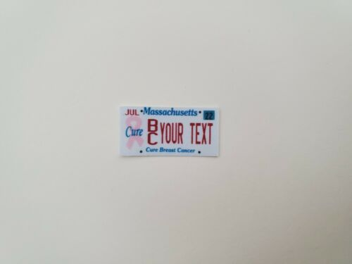 1//10 Scale RC Accessories License Plates DECALS 3 set customizable MASSACHUSETTS