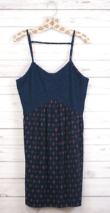 New Xhilaration Sleeveless Short Crochet Mesh Loose Sun Dress Navy Womens S-L