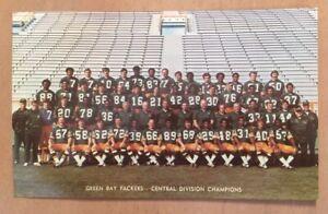 VINTAGE-1970s-NFL-GREEN-BAY-PACKERS-TEAM-FOOTBALL-PHOTO-POSTCARD-LAMBEAU