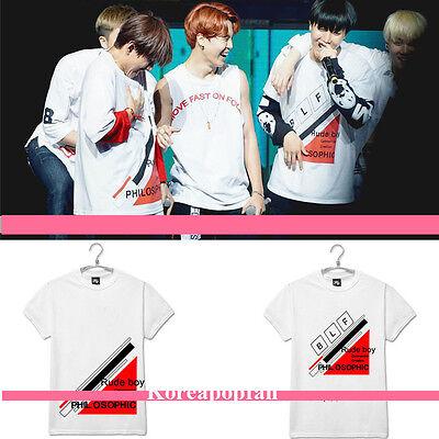Bangtan Boys BTS JUNG KOOK JIMIN JIN J-HOPE BLF 2015 RED BULLET T-shirt Kpop
