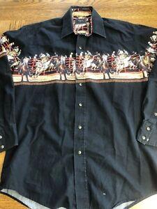 Men/'s Western Plaid Short Sleeve Cowboy Pearl Snap Shirt Size S 5XL Rodeo Shirt