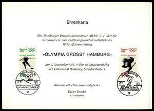 BUND-EHRENKARTE-BUW-1971-034-OLYMPIA-GRUSST-HAMBURG-034-OLYMPICS-1972-RARE-z1875