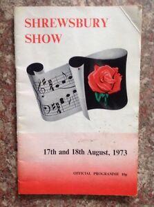 Shrewsbury Flower Show Programme 1973 - Shrewsbury, United Kingdom - Shrewsbury Flower Show Programme 1973 - Shrewsbury, United Kingdom