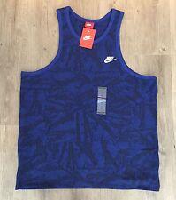 068a328abf9e0f Nike Men s Summer Knit Solstic Futura Tank Top Deep Royal Blue Size XL  871769
