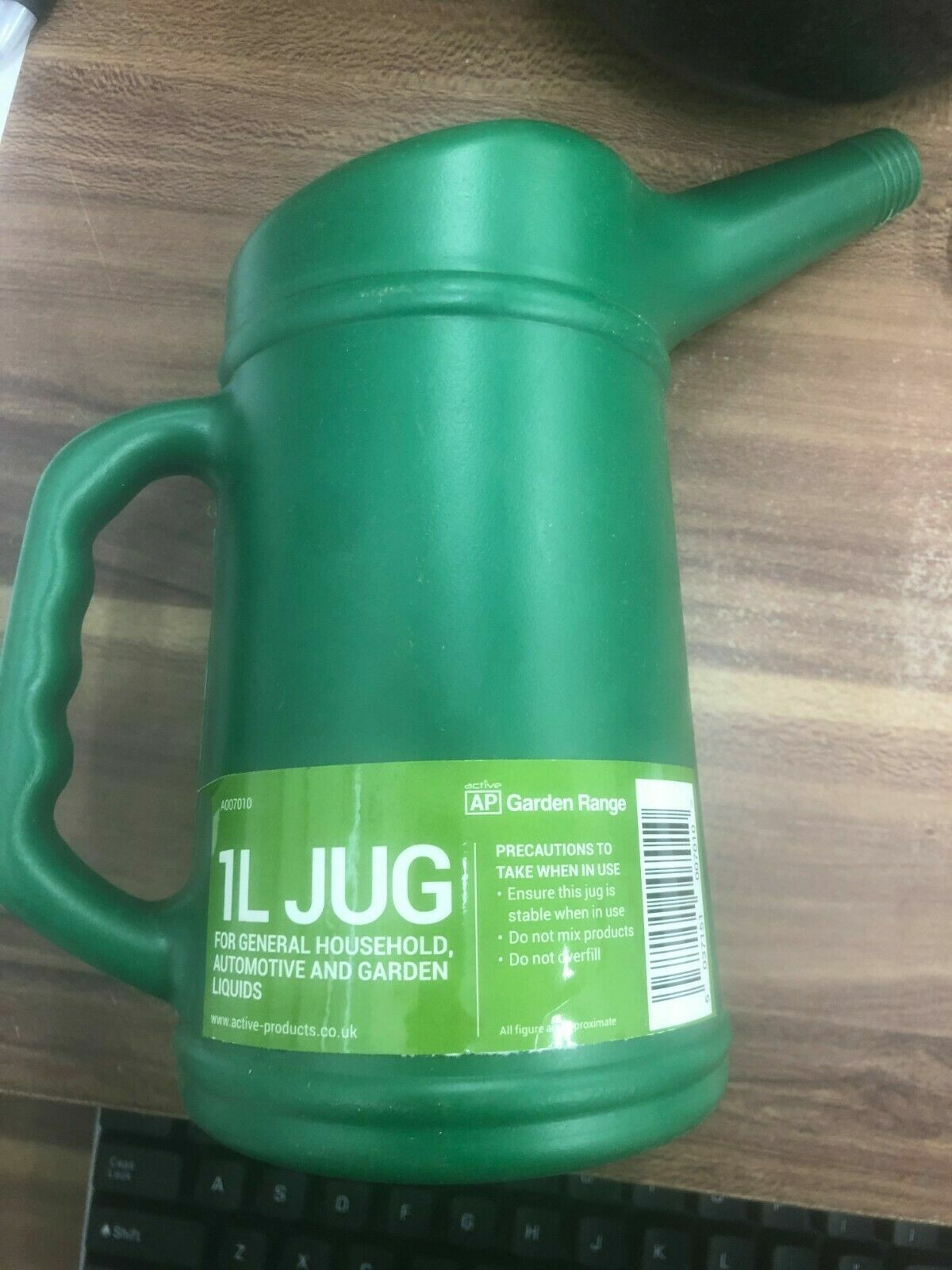 1 Litre Jug Shaped Plastic Watering Can pack of 2