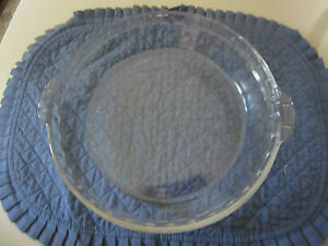 Image is loading Vintage-PYREX-229-10-Clear-Glass-Fluted-Scalloped- & Vintage PYREX 229 10u2033 Clear Glass Fluted Scalloped Edge Deep Dish ...