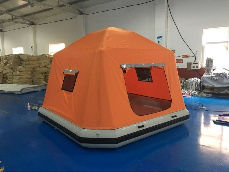 Inflatable Floating PVC Shoal Family  Camping Water Raft Tent AS SEEN ONLINE  in stadium promotions