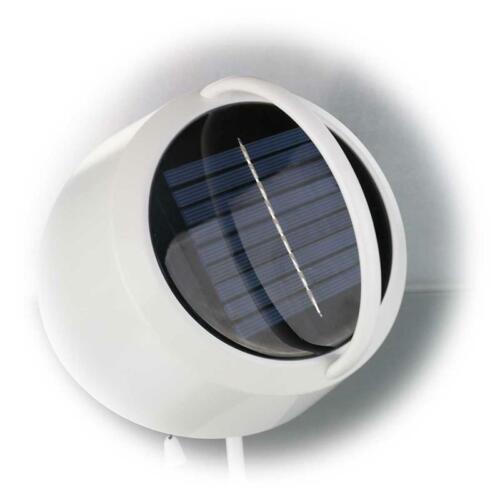 Gris Argenté Plastique 0,06 W 50 cm DEL solaire de jardin meneaux Bianca