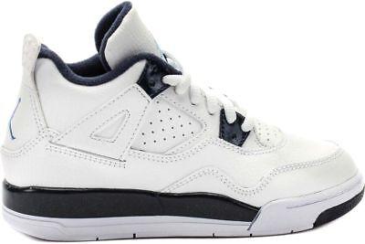 Jordan 4 Retro Ls White/navy Sizes 11-3 Nib ps 707430-107 Kid's Preschool
