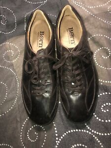 Born-Breves-Mens-Leather-Lace-Up-Casual-Shoes-Oxfords-Size-11-M-Brown