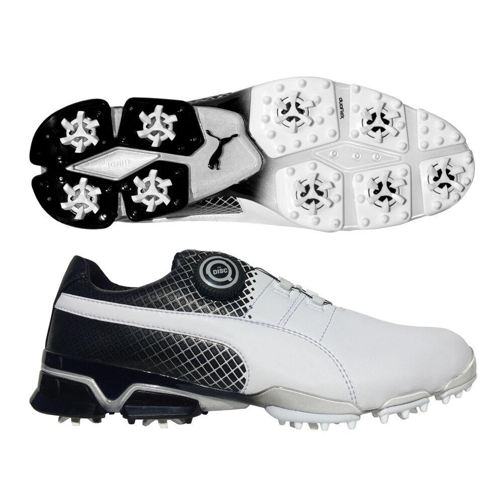 Puma titantour Ignite Golf Disc Golf Ignite Zapatos-Edición Especial Blanco/Negro e7e211