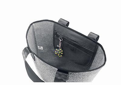 Shopper Einkaufstasche Filz Tasche Halfar Classic groß stabil Grau Unifarben
