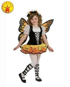NEW-Monarch-Butterfly-Girls-Dress-Up-Costume-Child-Size-5-7-years