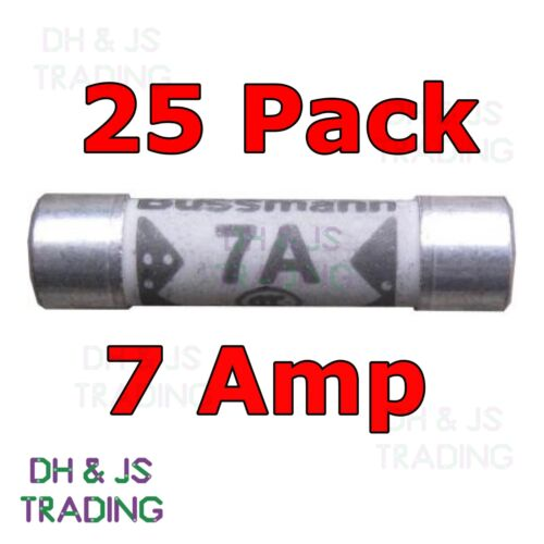 25x 7a Domestic Fuses Plug Top Household Mains 7amp Cartridge Fuse