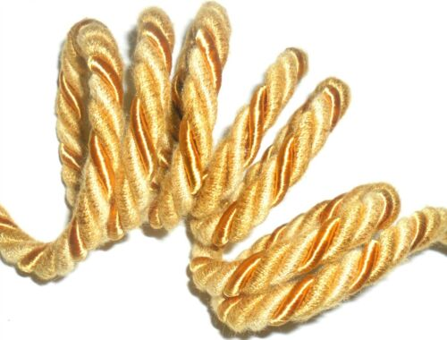free p/&p art 5294 Or soie//coton piping//bordure corde 8MM corde X2 mètres