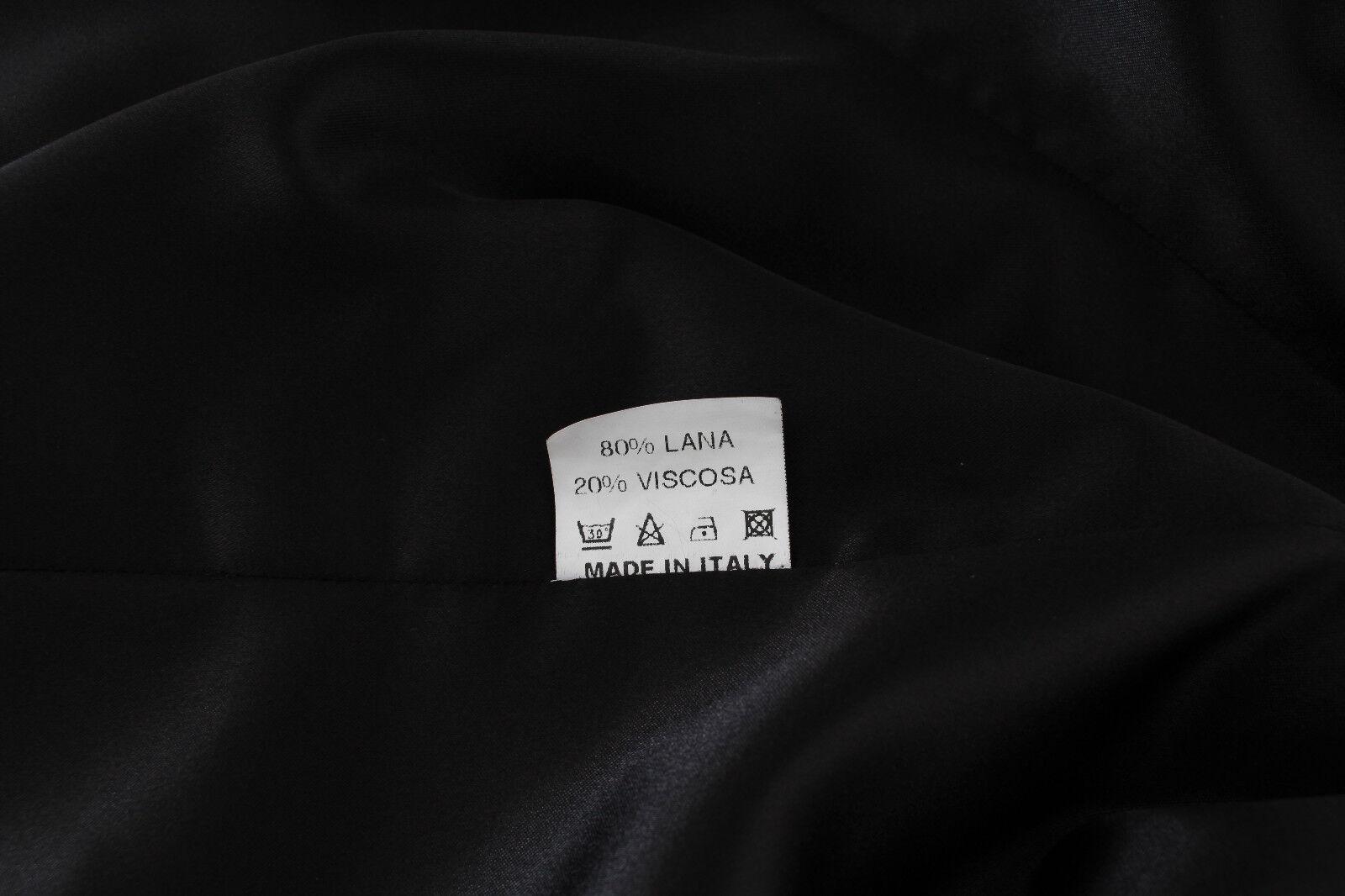 Nuovo Bencivenga Abito Giacca Set Pantaloni Pantaloni Pantaloni Lana Nero Due Pulsanti IT50 US14   cdcbad