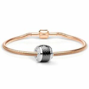 Qualifiziert Bering Schmuckset Armband Und Charm Thankful-1 Aus Edelstahl Rosé Charm-set-385 Schrumpffrei