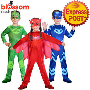 Details about K495 PJ Masks Costume Boys Girl Kids Superhero Cape Mask  Cosplay Party Book Week