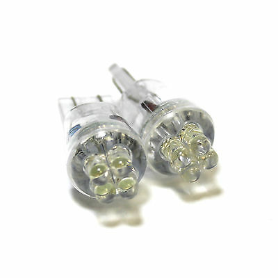 2x Bright Xenon White Led Upgrade Number Plate Licence Light Lamp Bulbs
