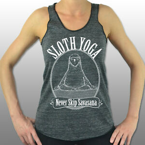 sloth yoga never skip savasana yoga clothing yoga tank