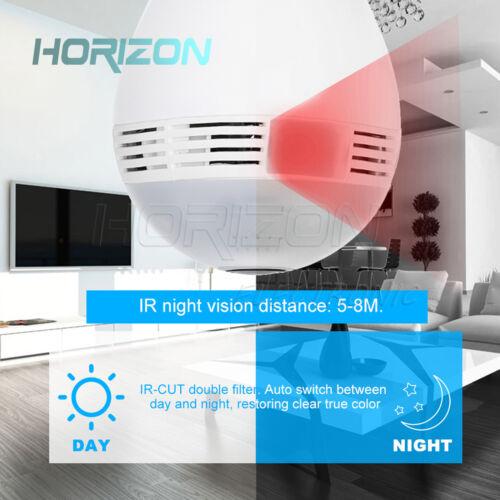 360° Panoramic 1080P Hidden IR Camera E27 Light Bulb Lamp Wifi CCTV//TCP Security