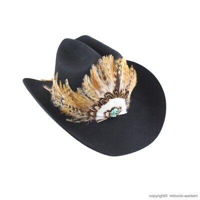 Western FEATHER HAT BAND pour chapeaux de cowboy AU-FHB-02