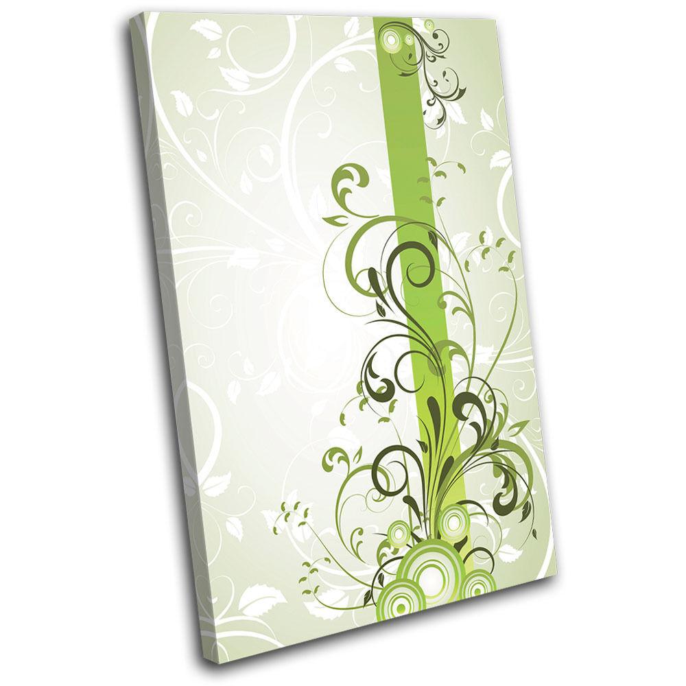 Floral Design Abstract SINGLE TELA parete arte foto foto foto stampa 5ca785