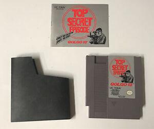 Nintendo-NES-Golgo-13-Top-Secret-Episode-Game-Cart-Manual-Dust-Cover-Authentic