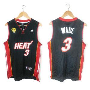 best sneakers 616d9 6c66b Details about NBA Miami Heat Dwayne Wade Black Adidas Size L 2 Jersey NBA  Finals Patch