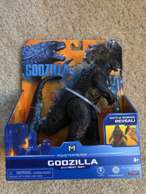 New Playmates Godzilla vs Kong Monsterverse GODZILLA Figure w/ Heat Ray