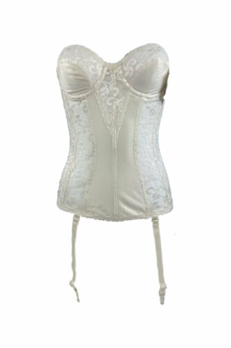 Vintage Deadstock NWT Carnival Strapless Lace Ivor