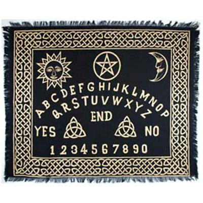 image relating to Printable Pendulum Board titled Ouija Board Altar Fabric 24 x 30\