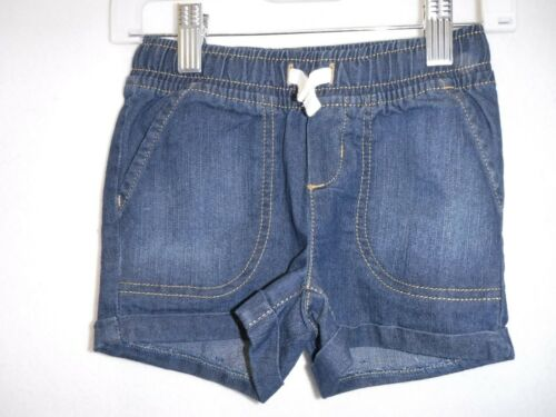 GIRLS SIZE 5T JUMPING BEANS DARK BLUE DENIM DRAWSTRING SHORTS NEW #15070