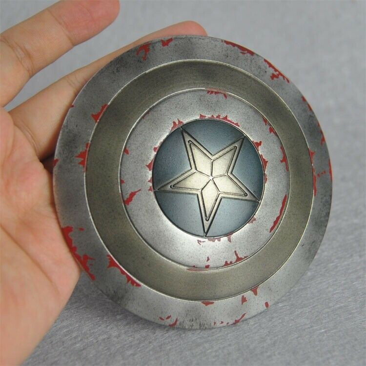 Captain America metal shield 1 6 diameter 11cm in stock Iron man patriot hot new